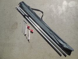 KOALA CREEK® luifel stokken set 215 cm aluminium verstelbaar