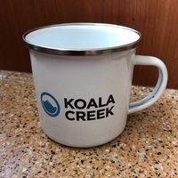 KOALA CREEK® emaille mok 370 ml.