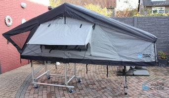 KOALA CREEK® TEIDE 160L daktent donker grijs met overdekte instap GO edition