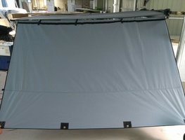 KOALA CREEK®  EXPLORER luifelzijwand grijs 200x200 cm. Rip-Stop polyester/katoen