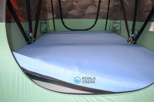 KOALA CREEK® DAKTENT grijze matrashoes afwasbaar ca. 140x240x 6 cm. met rits