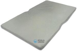 KOALA CREEK® 160-165 DAKTENT matras ca. 160-165X240 CM SG40, ca. 6 cm. dik met grijze hoes.