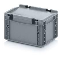 OPBERGBOX medium met deksel 30x20x18,5 cm. Grijs