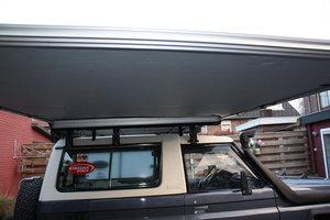 KOALA CREEK LR EXPLORER 4x4 luifel grijs 250x250 cm. Rip-Stop polyester/katoen