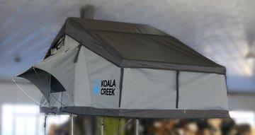 KOALA CREEK® daktent 140L extreme TOP donkergrijs ingebouwde dimbare LED lamp en 2 x USB