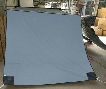 KOALA CREEK® EXPLORER luifelvoorwand grijs 200x200 cm. Rip-Stop polyester/katoen