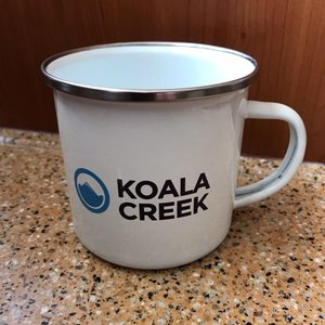 KOALA CREEK ® emaille mok 370 ml.